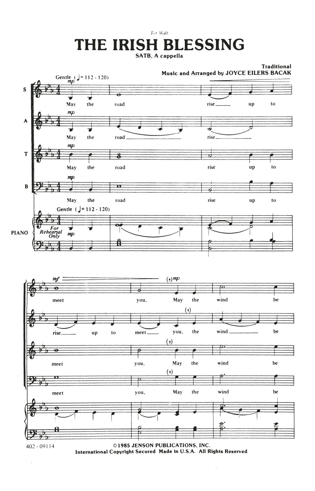The Irish Blessing (SATB Choir)