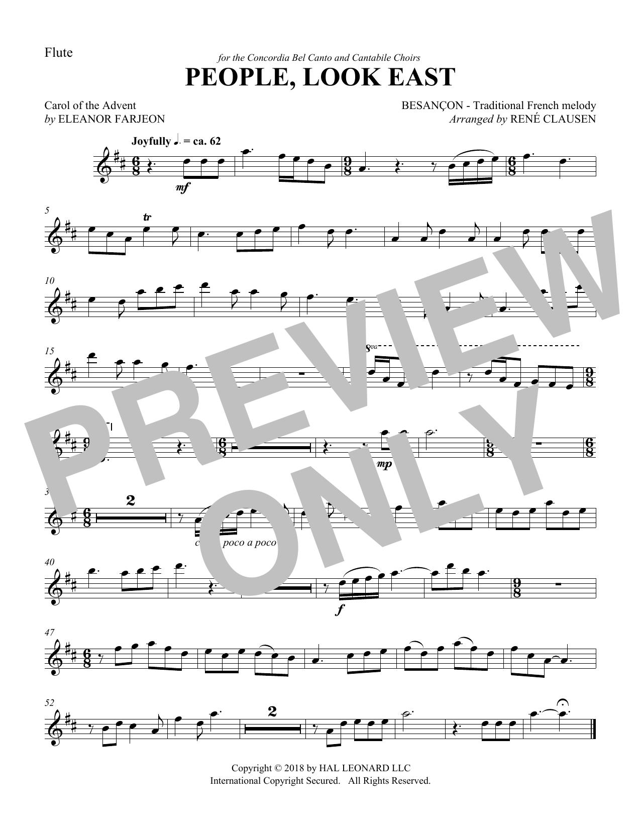 People Look East - Flute (Choir Instrumental Pak)