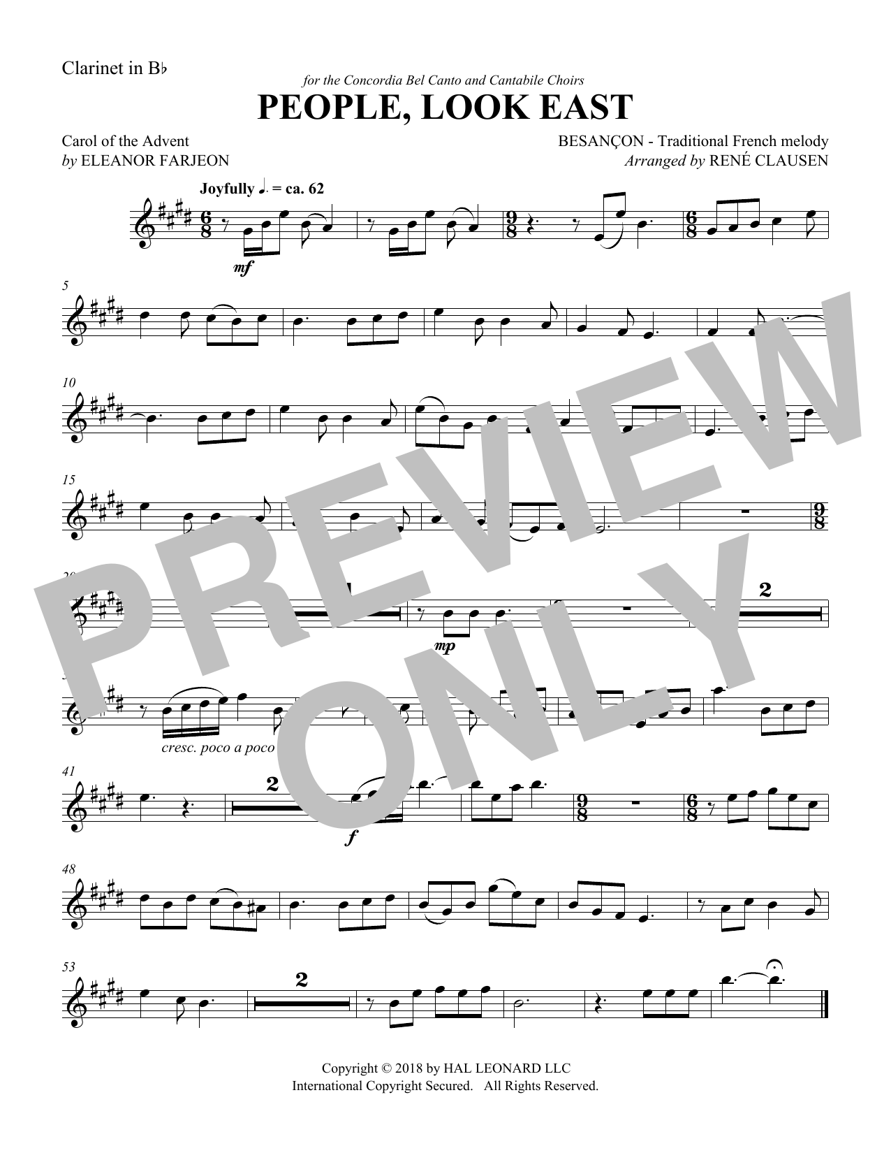 People Look East - Clarinet (Choir Instrumental Pak)