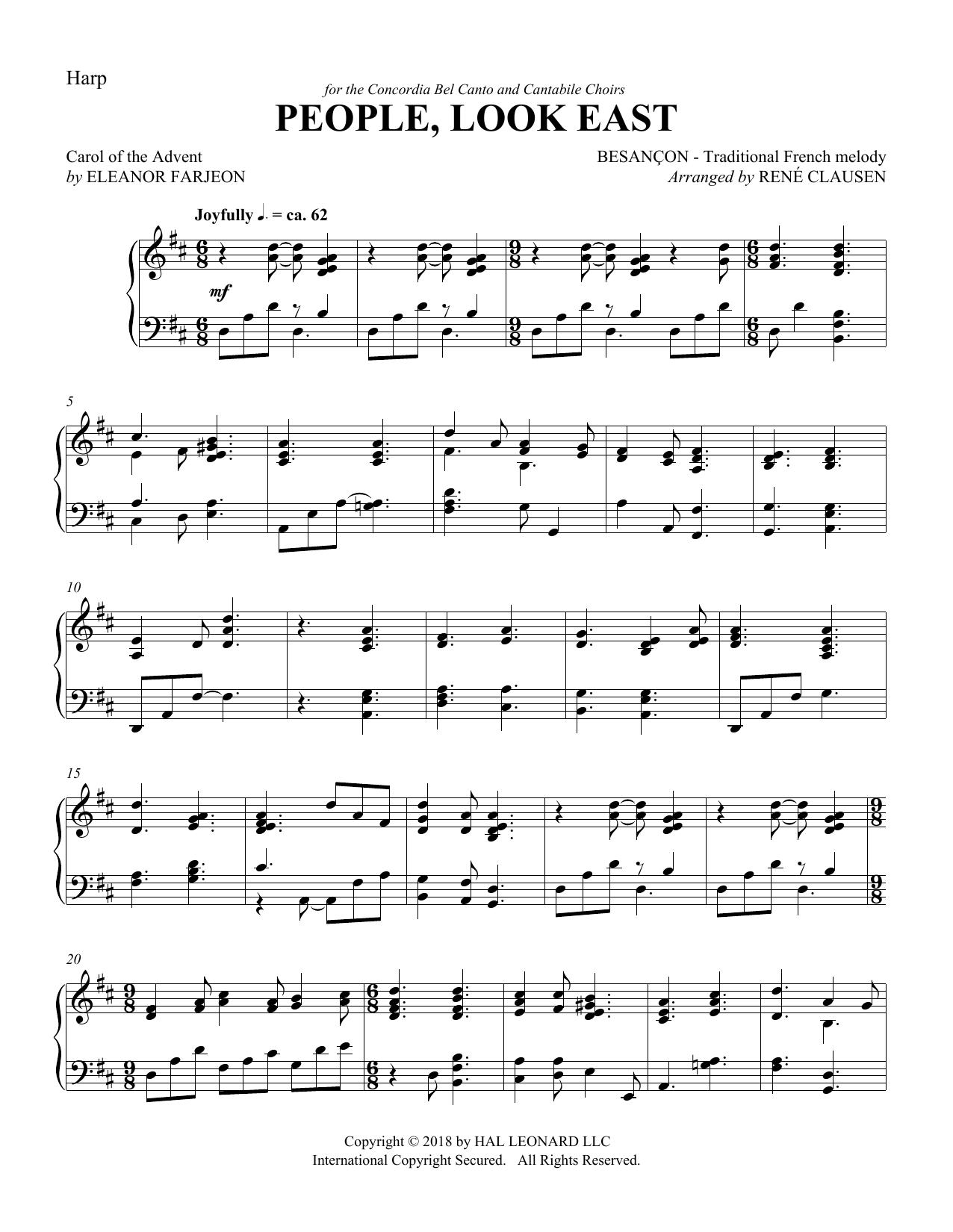 People Look East - Harp (Choir Instrumental Pak)