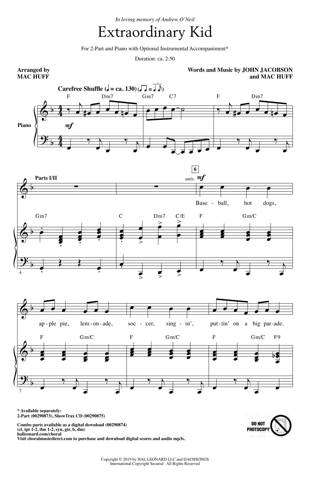 Extraordinary Kid (2-Part Choir)