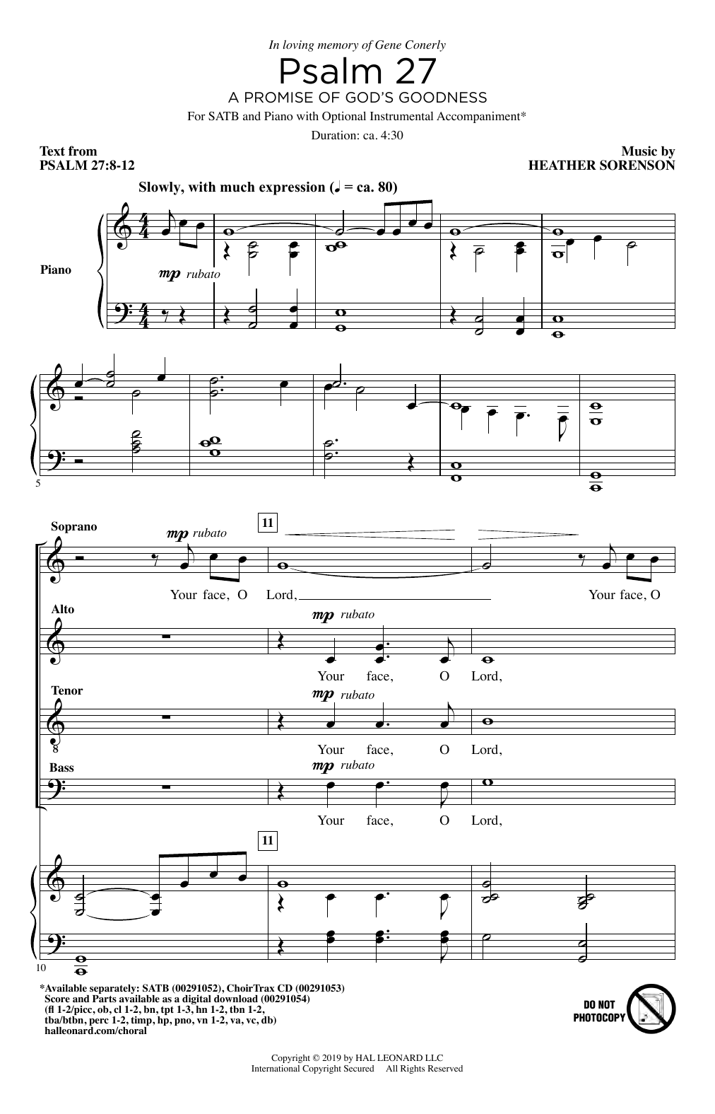 Psalm 27 (A Promise Of God's Goodness) Sheet Music