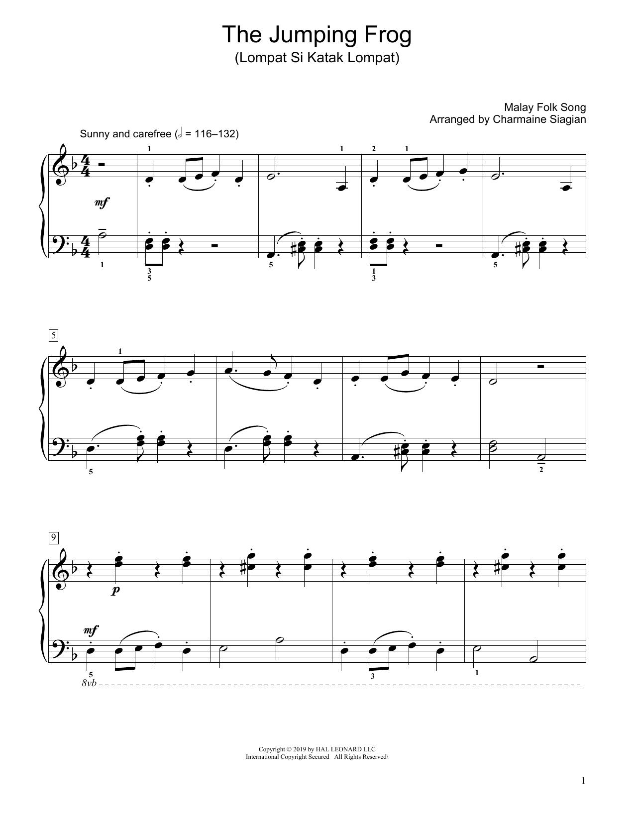 The Jumping Frog (Lompat Si Katak Lompat) (arr. Charmaine Siagian) (Educational Piano)