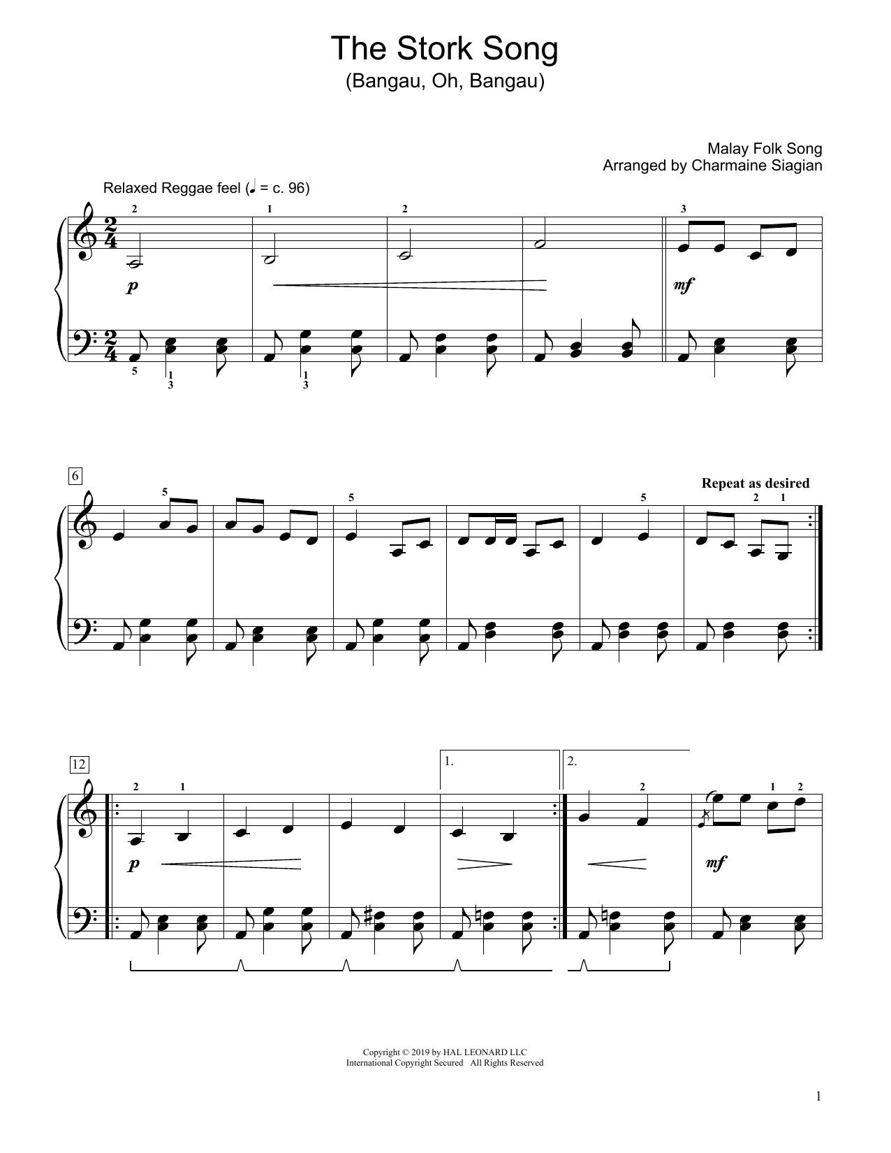 The Stork Song (Bangau Oh Bangau) (arr. Charmaine Siagian) (Educational Piano)