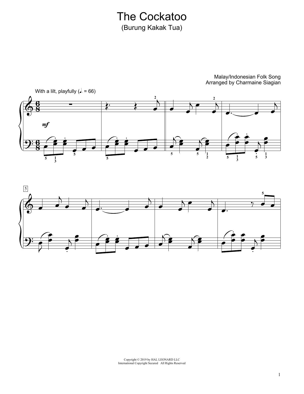 The Cockatoo (Burung Kakak Tua) (arr. Charmaine Siagian) (Educational Piano)