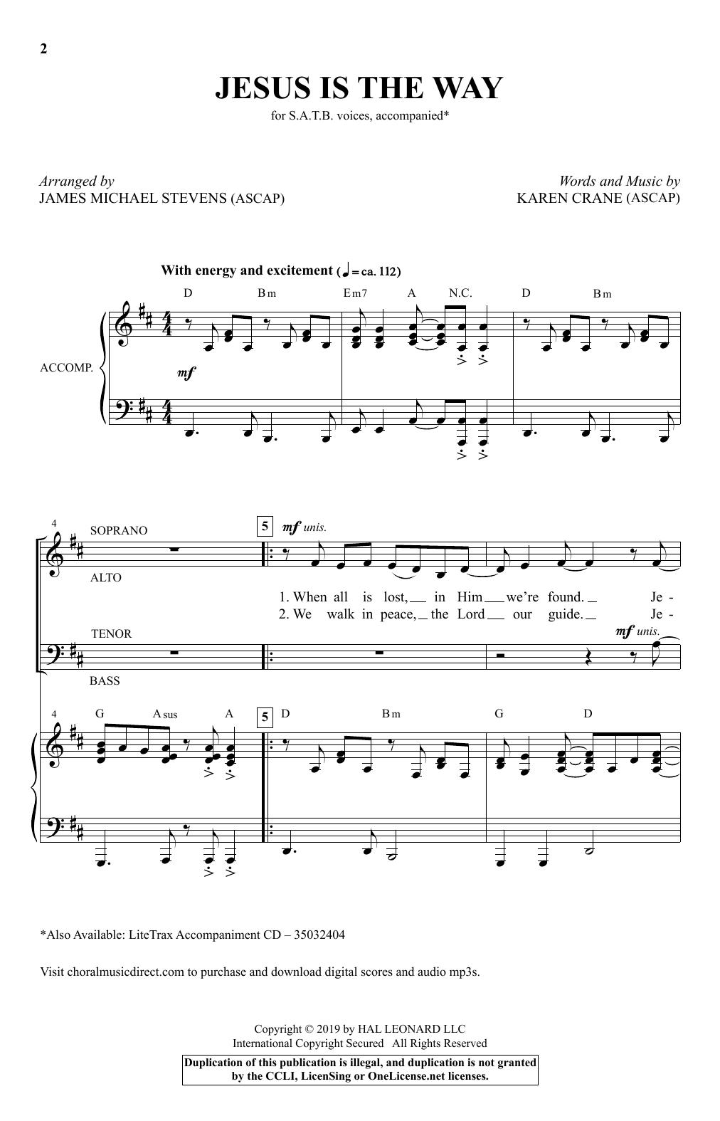 Jesus Is The Way (arr. James Michael Stevens) (SATB Choir)