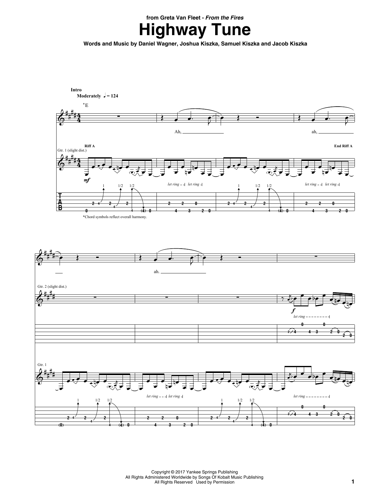 Highway Tune (Guitar Tab)