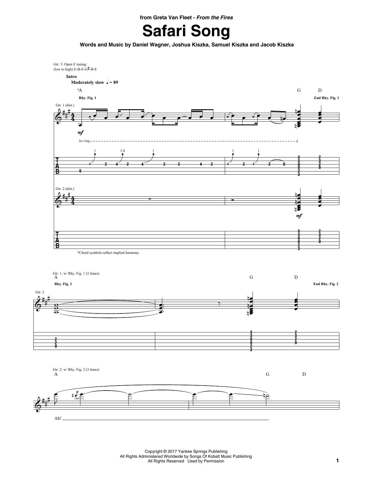 Safari Song (Guitar Tab)