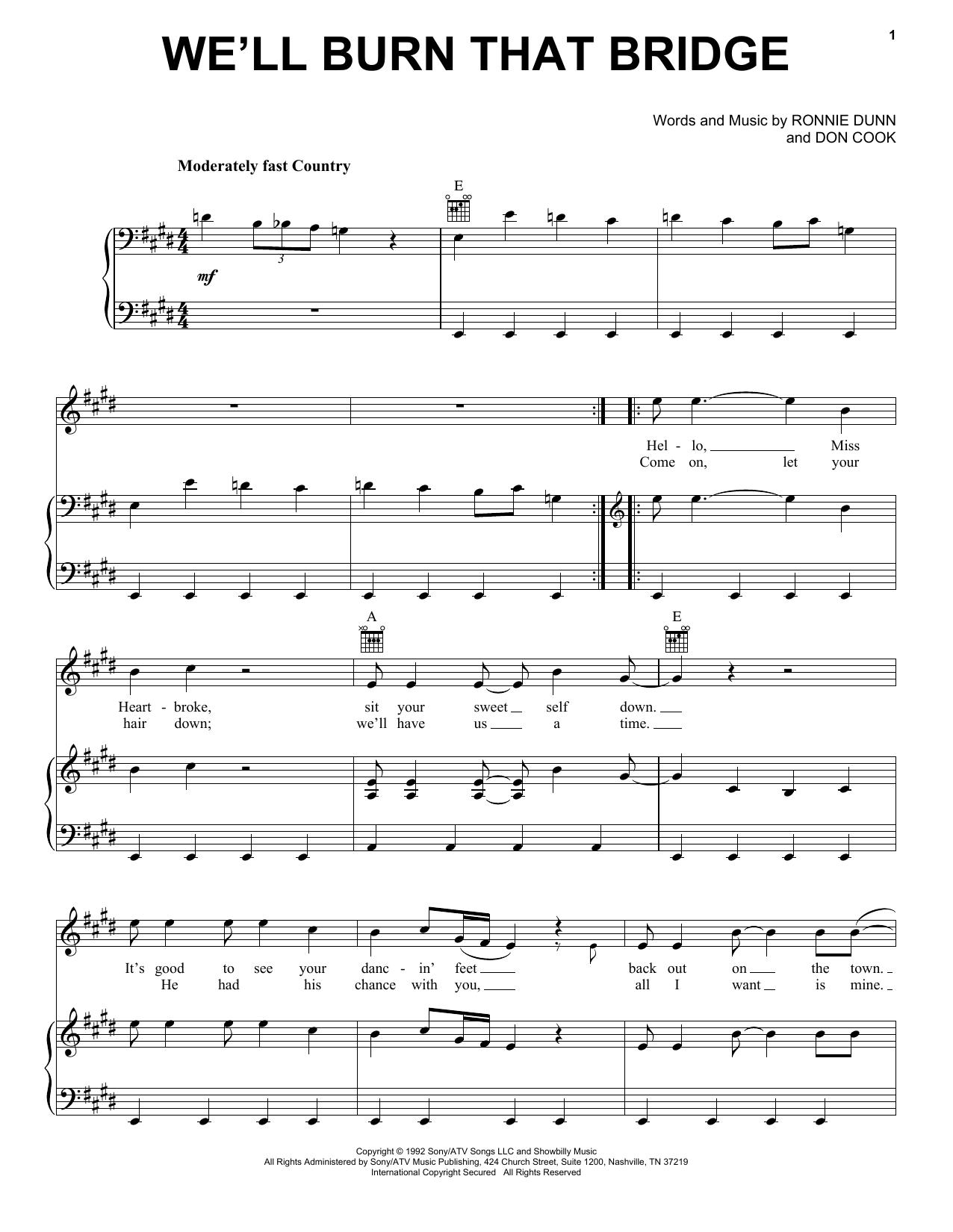 We'll Burn That Bridge (Piano, Vocal & Guitar (Right-Hand Melody))
