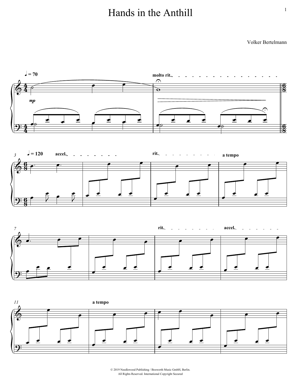 Hands In The Anthill (Piano Solo)