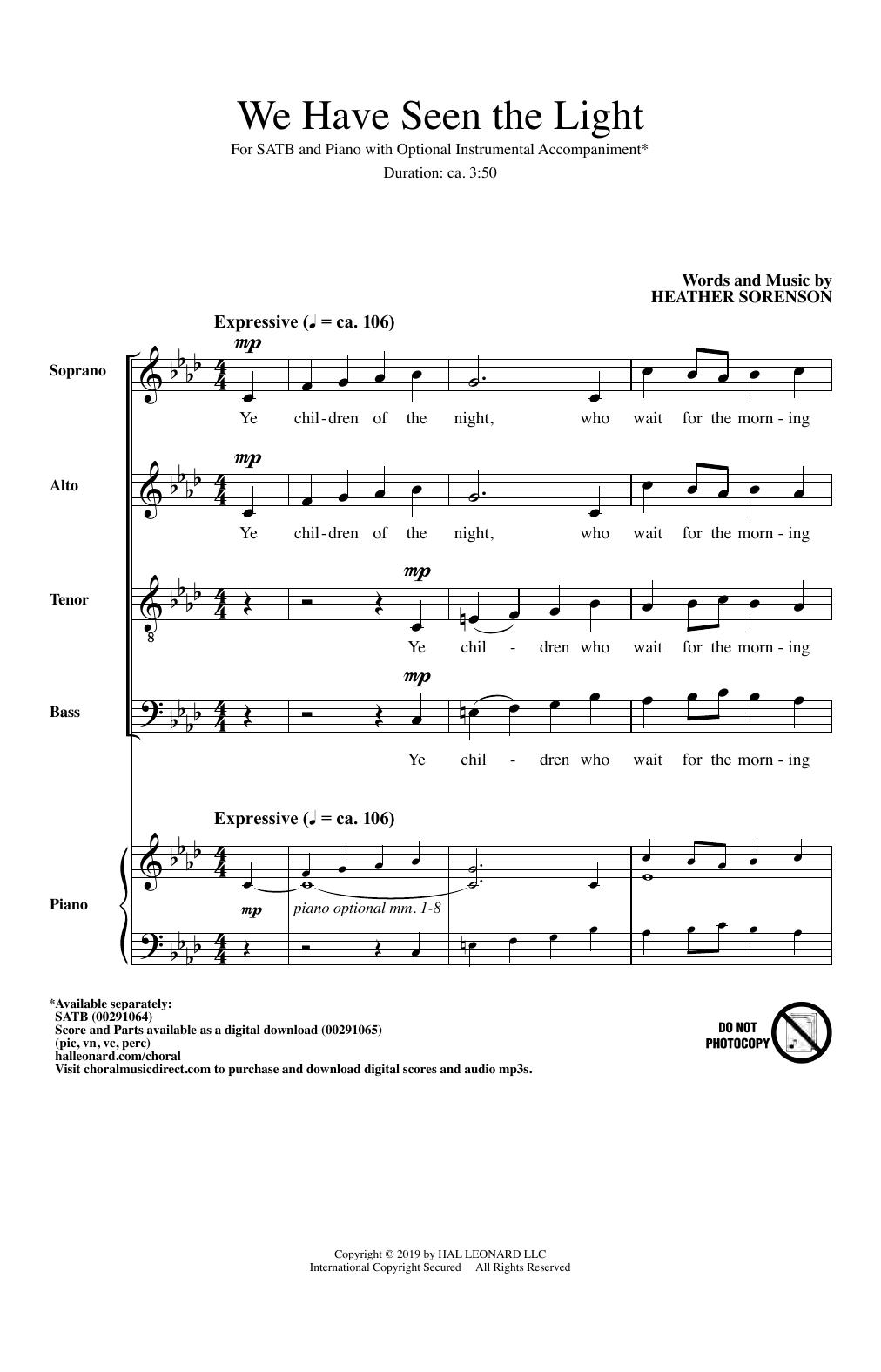 We Have Seen The Light (SATB Choir)