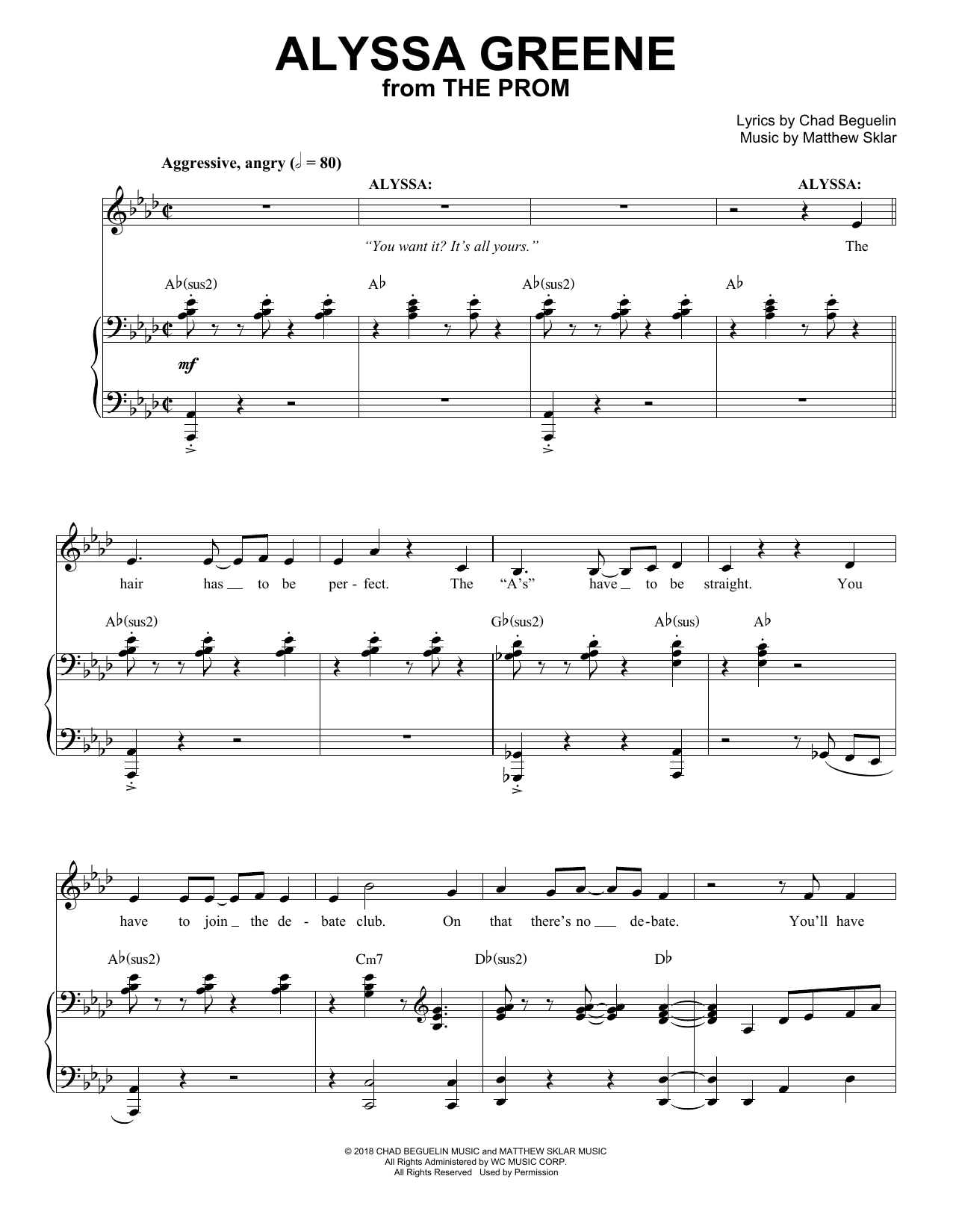 Alyssa Greene (from The Prom: A New Musical) Sheet Music