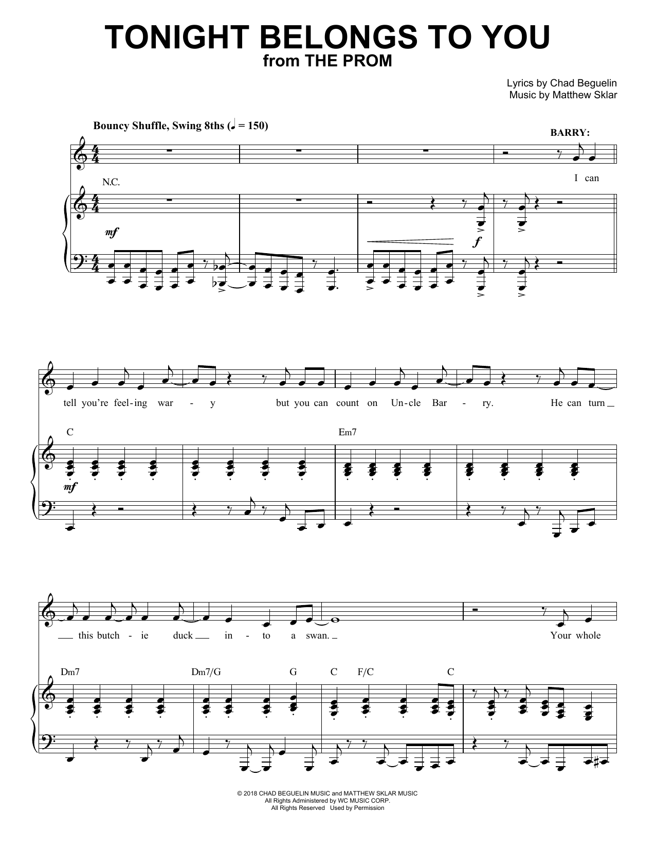 Tonight Belongs To You (from The Prom: A New Musical) Sheet Music
