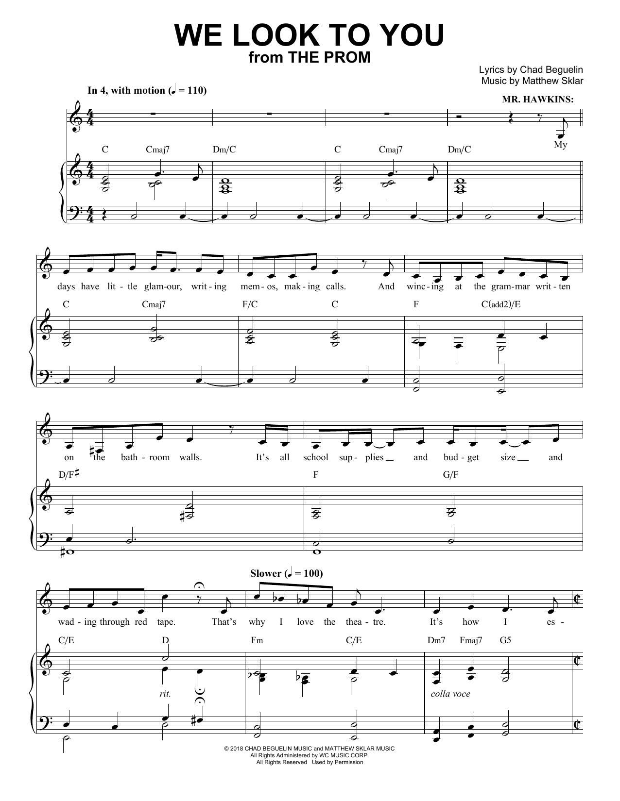 We Look To You (from The Prom: A New Musical) Sheet Music