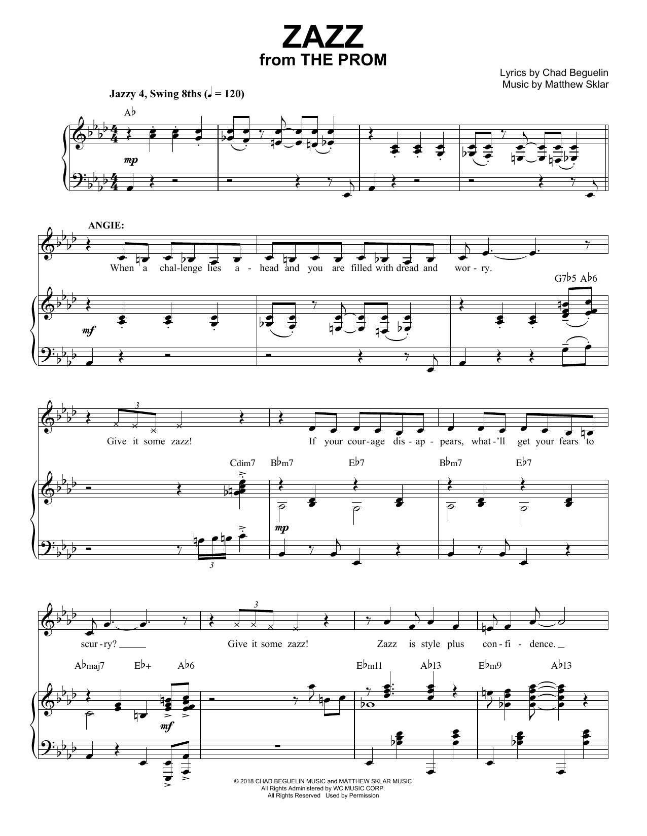 Zazz (from The Prom: A New Musical) Sheet Music