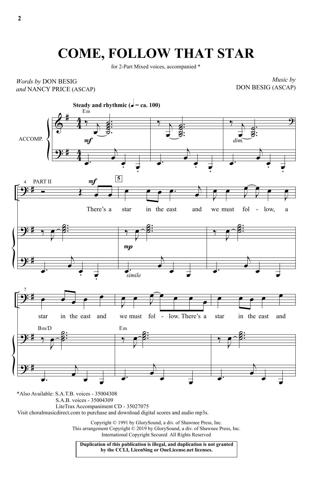 Come, Follow That Star (2-Part Choir)