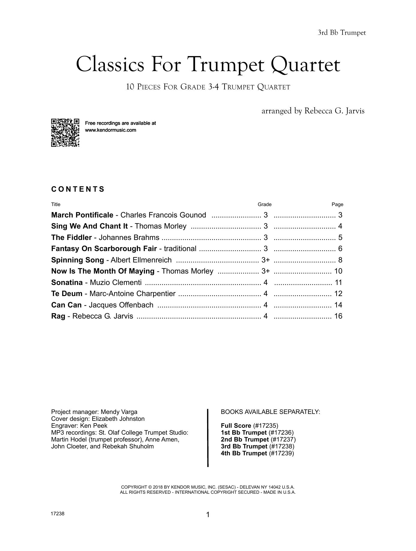 Classics For Trumpet Quartet - 3rd Trumpet Sheet Music