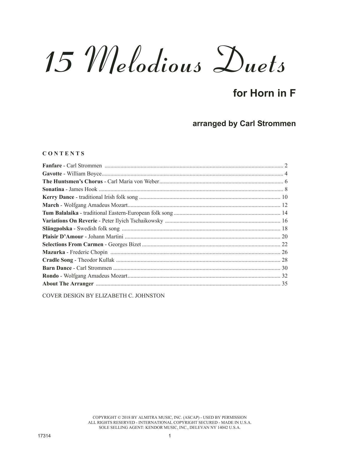 15 Melodious Duets (Brass Ensemble)