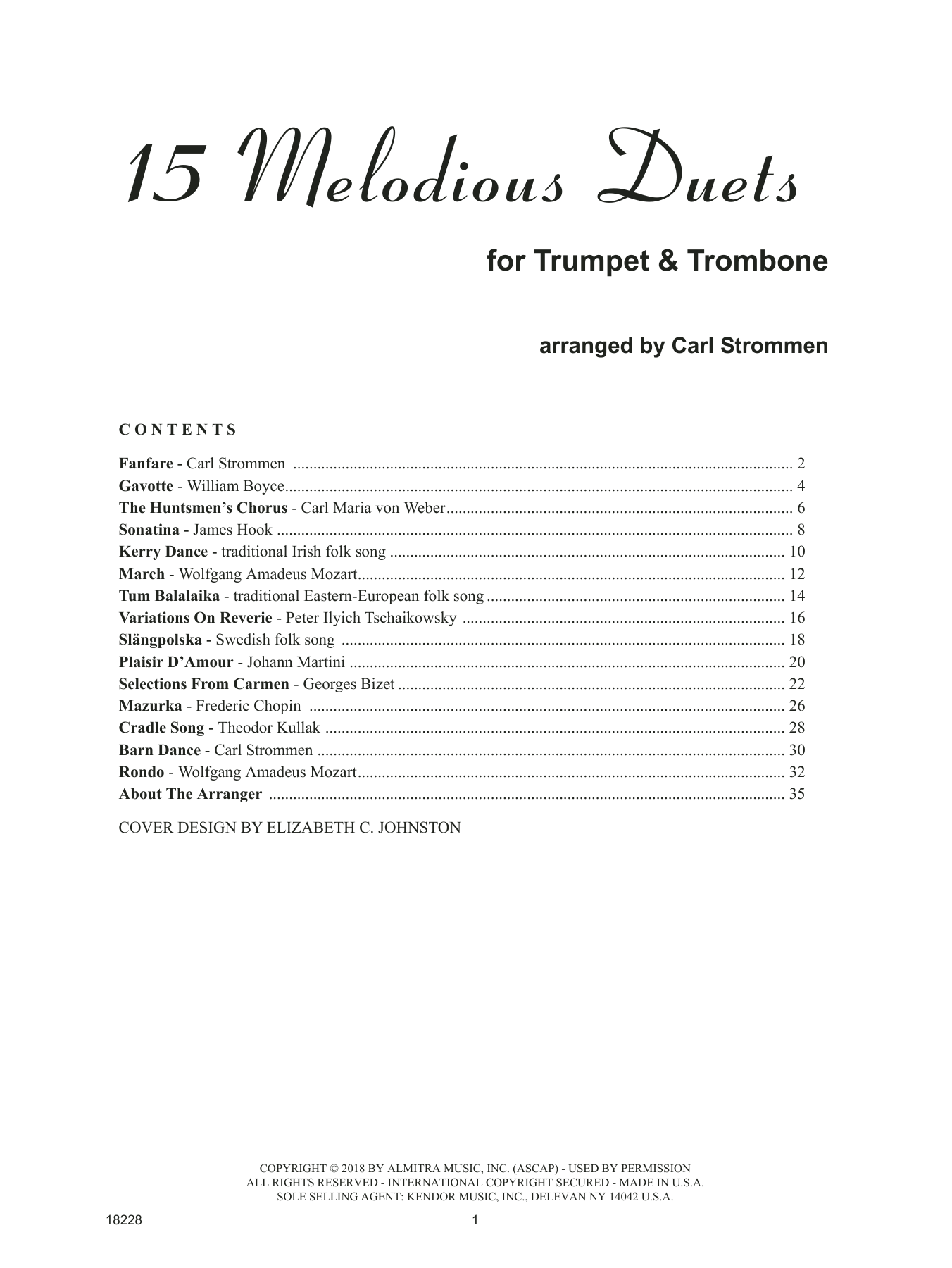 15 Melodious Duets Sheet Music
