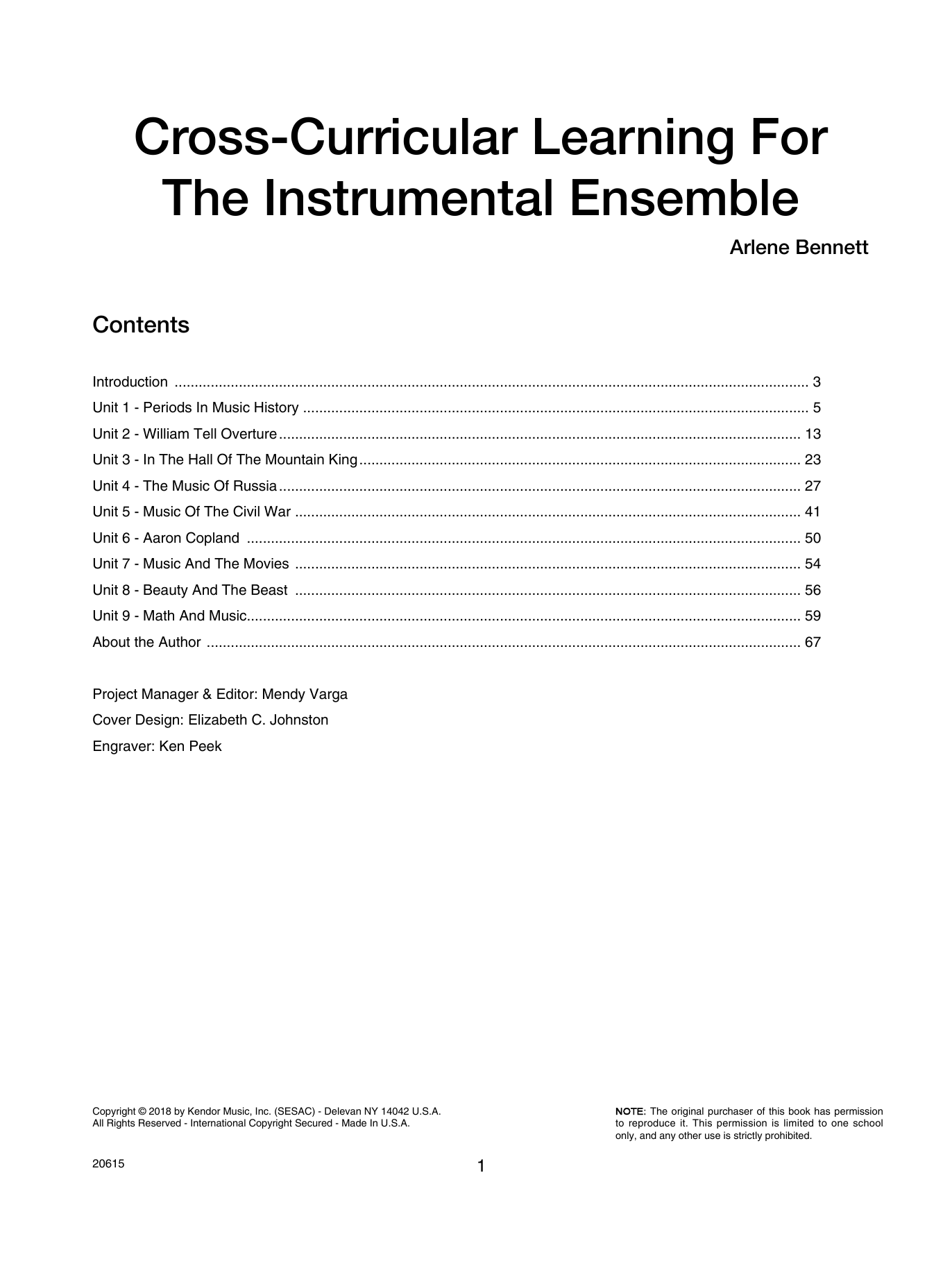 Cross-curricular Learning For The Instrumental Ensemble Sheet Music