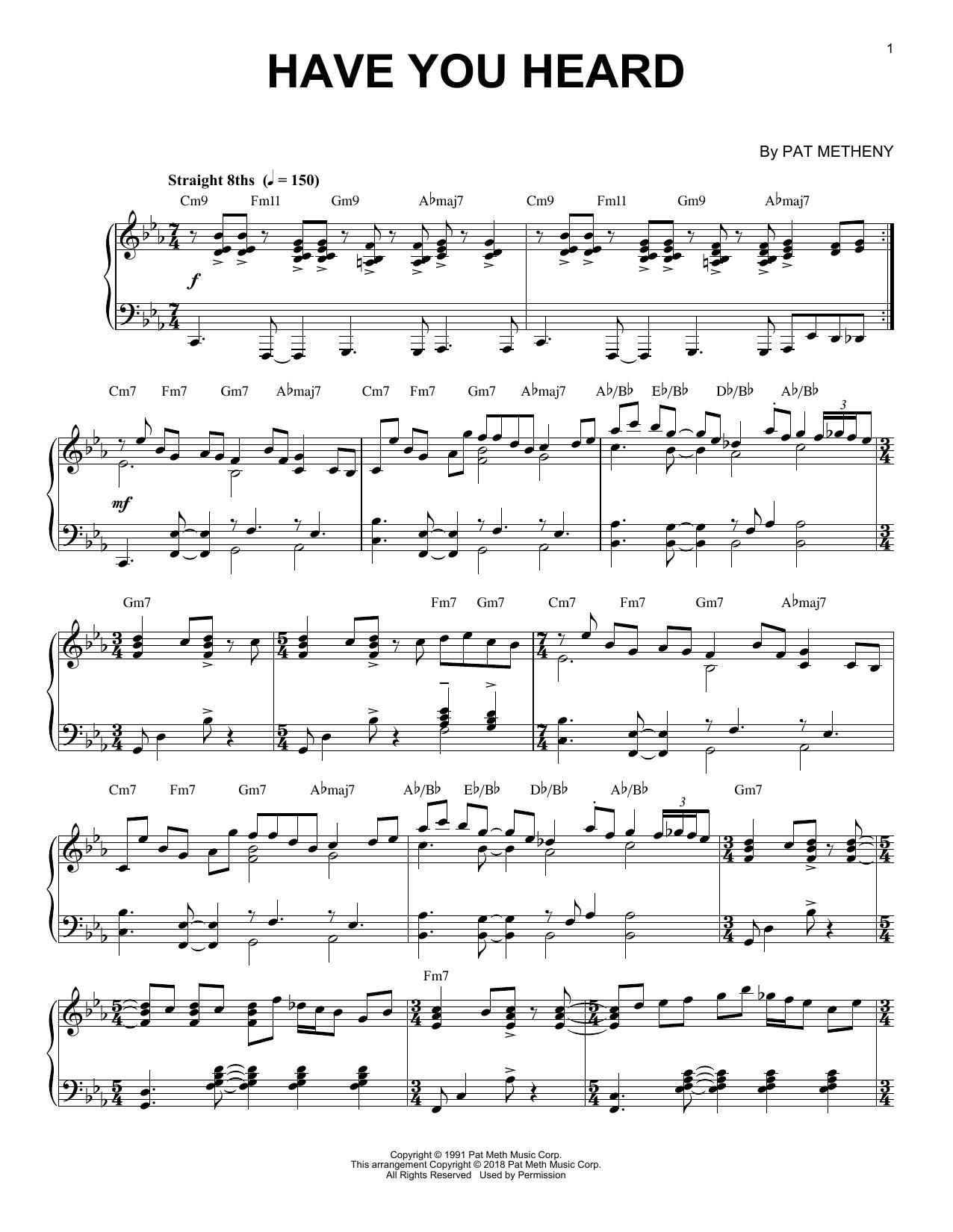 Have You Heard (Piano Solo)