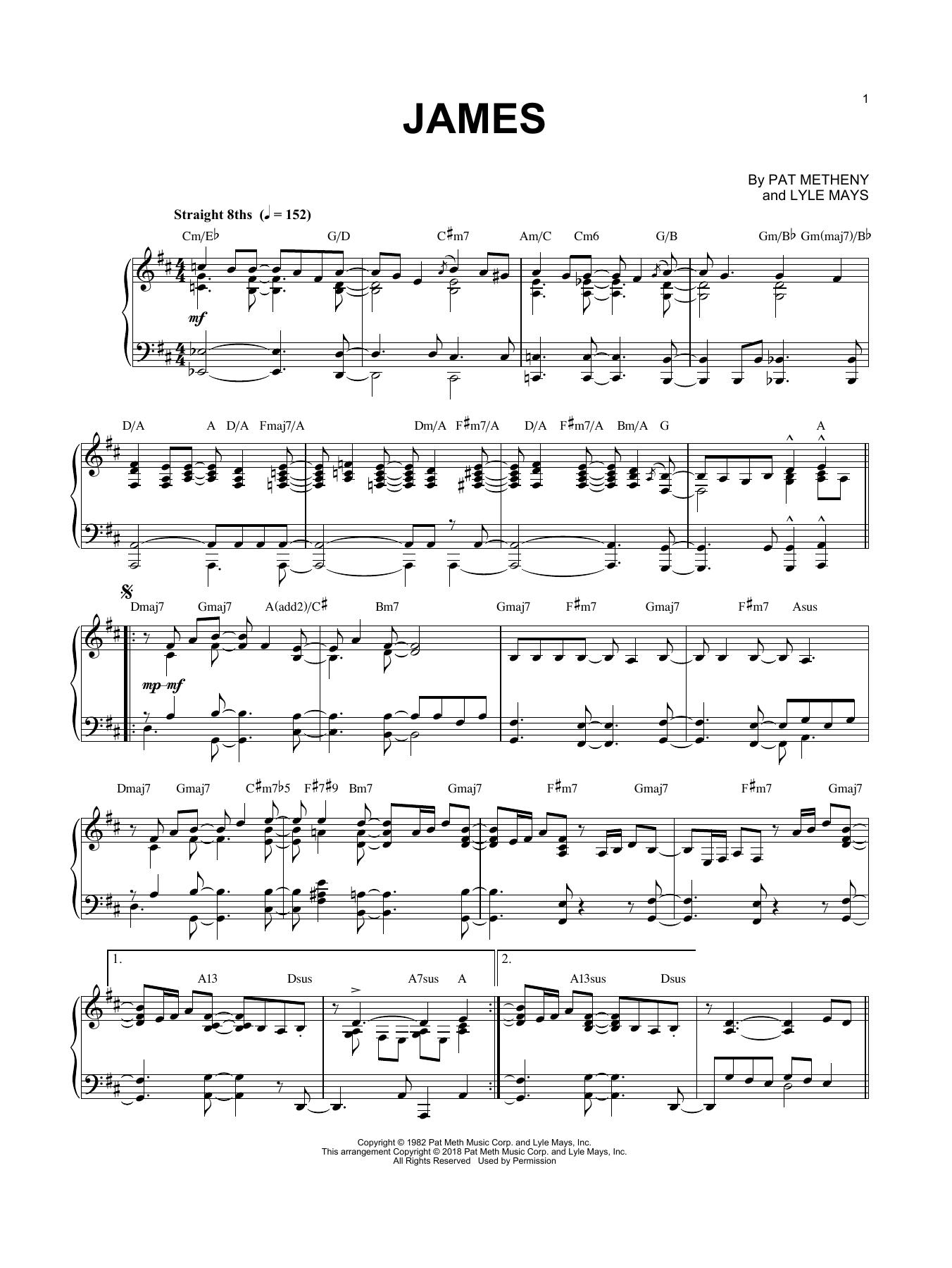 James (Piano Solo)