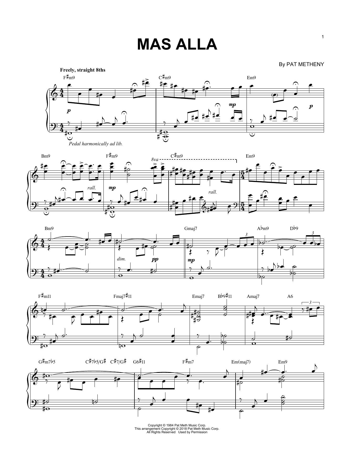Mas Alla (Piano Solo)