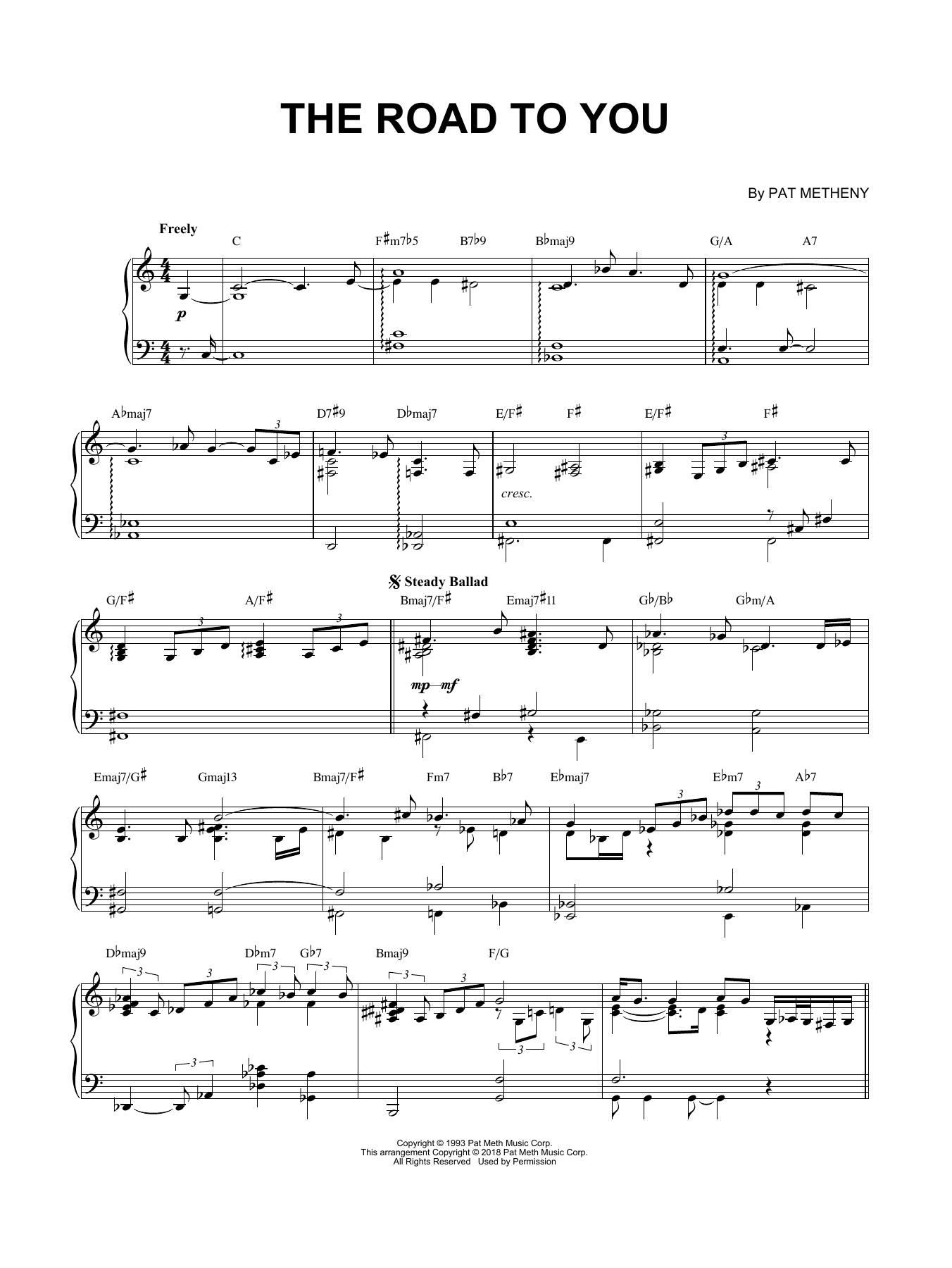 The Road To You (Piano Solo)