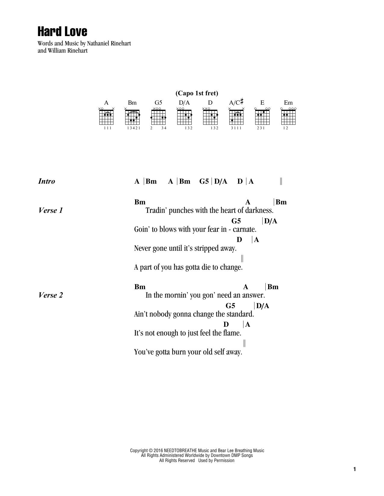 Hard Love (Guitar Chords/Lyrics)