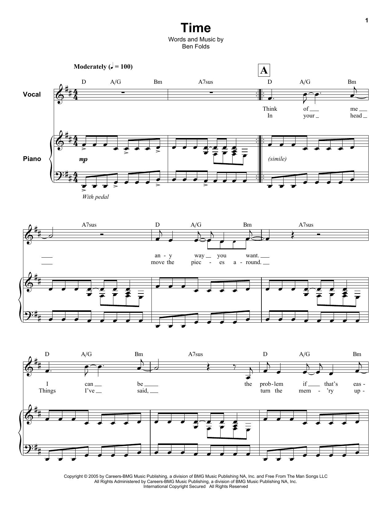 Time (Keyboard Transcription)
