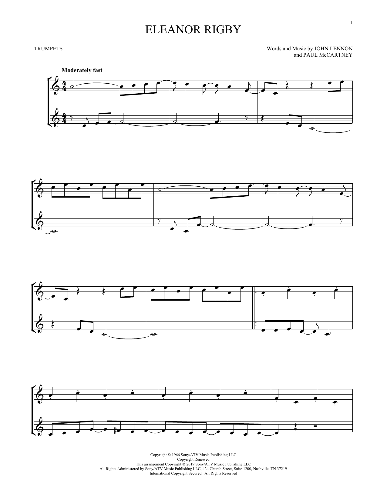 Eleanor Rigby (Trumpet Duet)