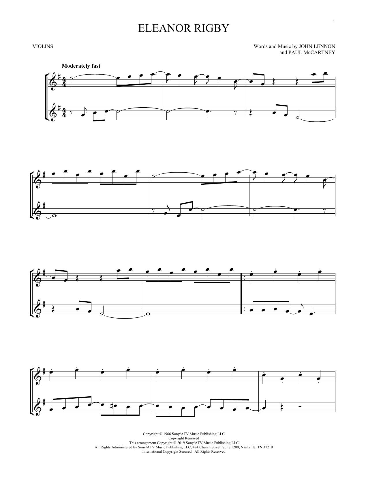 Eleanor Rigby (Violin Duet)