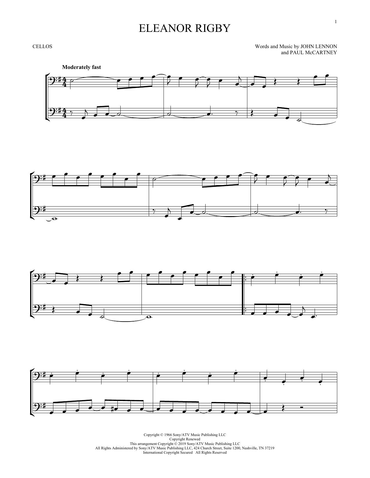 Eleanor Rigby (Cello Duet)