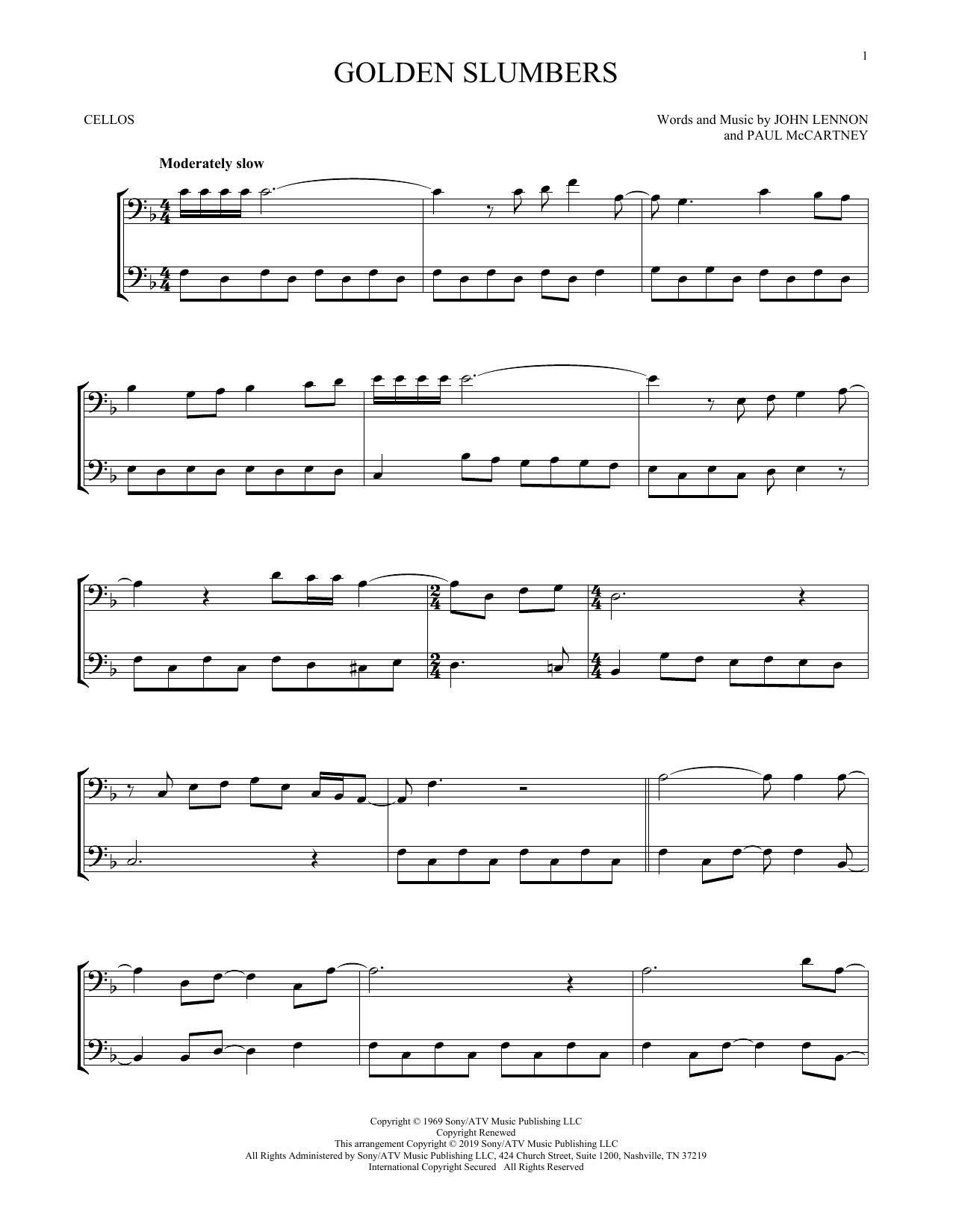 Golden Slumbers (Cello Duet)