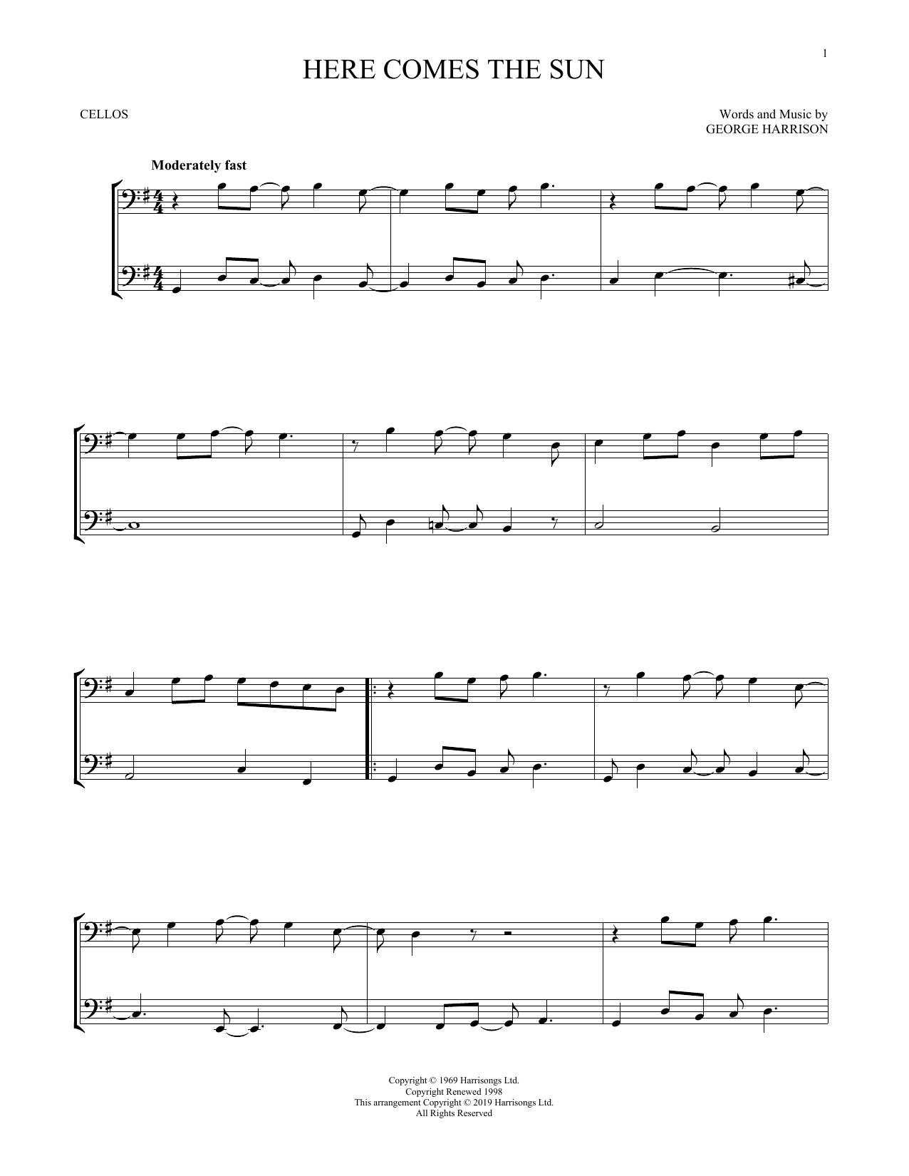 Here Comes The Sun (Cello Duet)