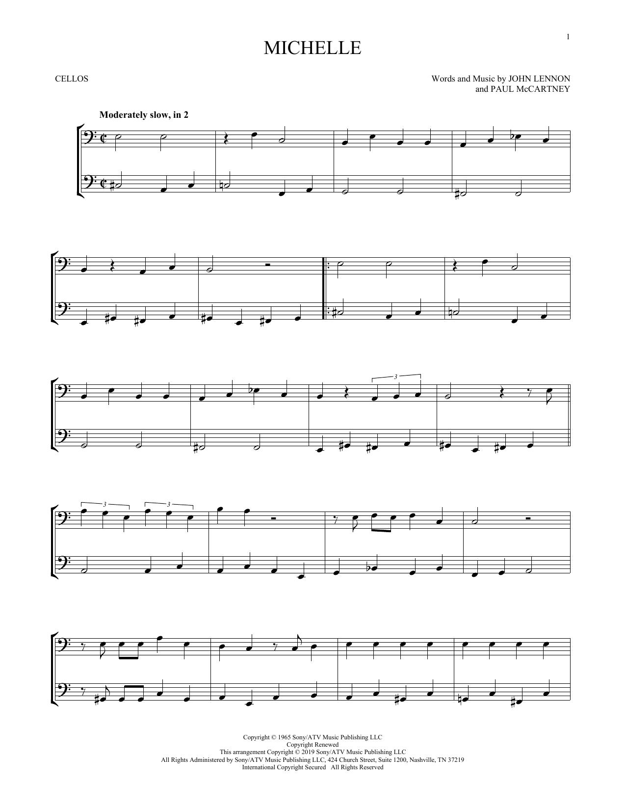 Michelle (Cello Duet)