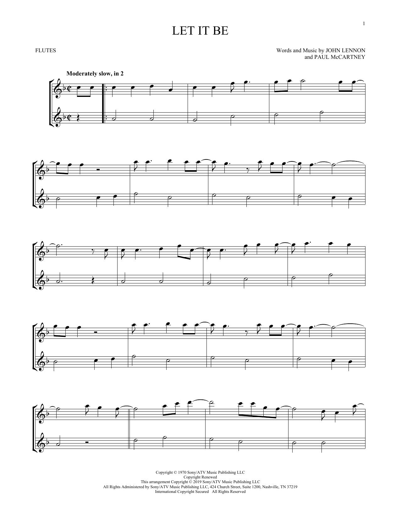 Let It Be (Flute Duet)
