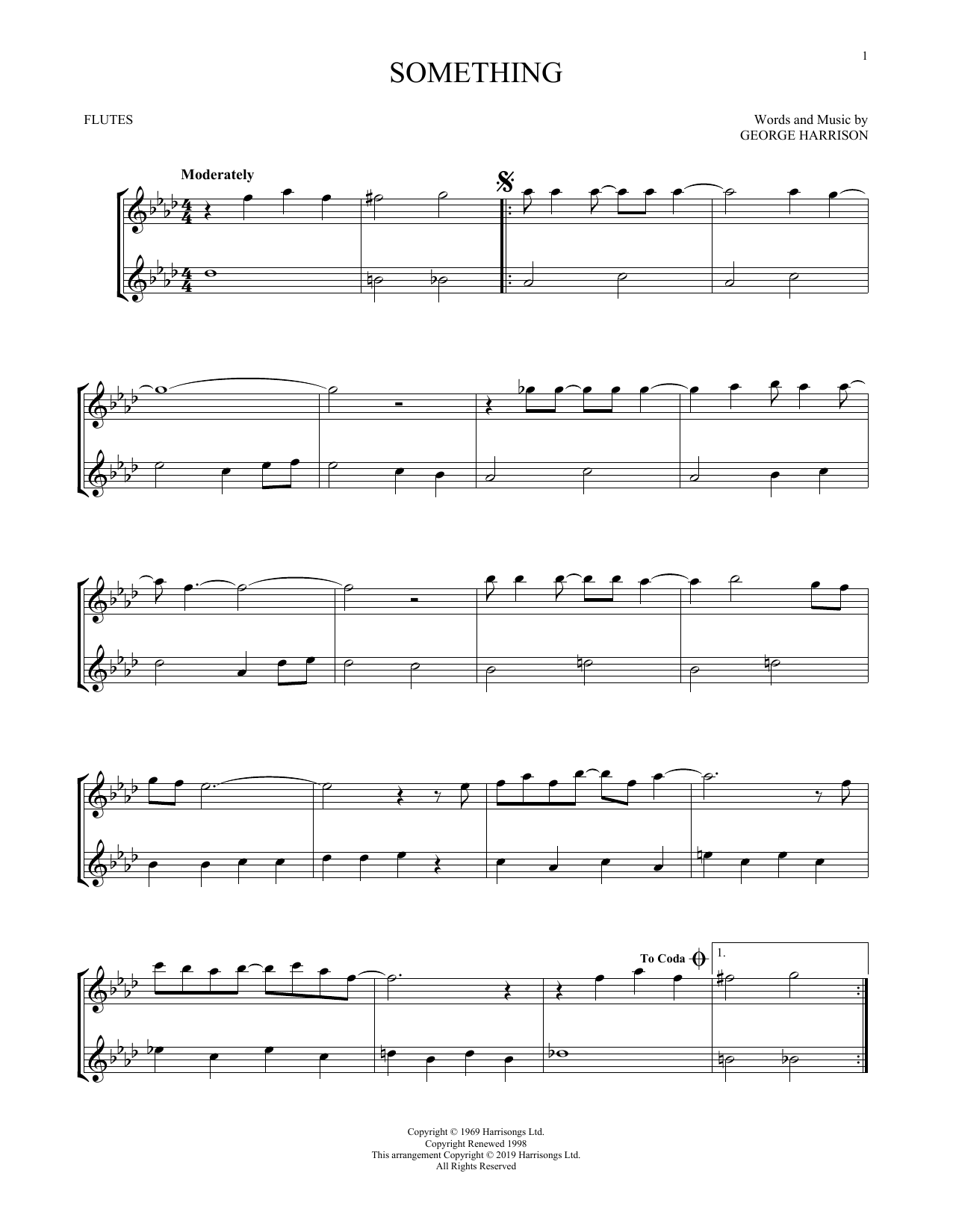 Something (Flute Duet)