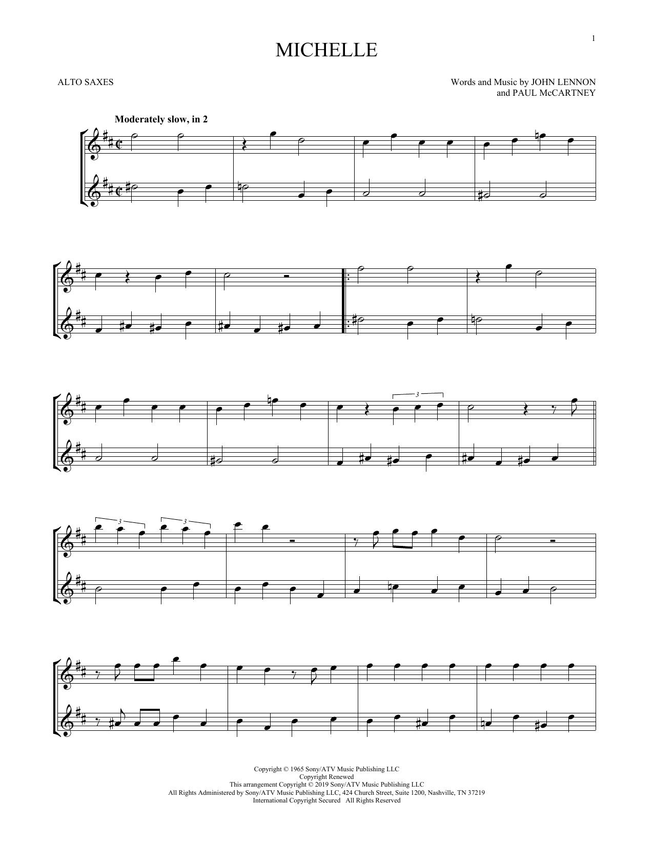 Michelle (Alto Sax Duet)