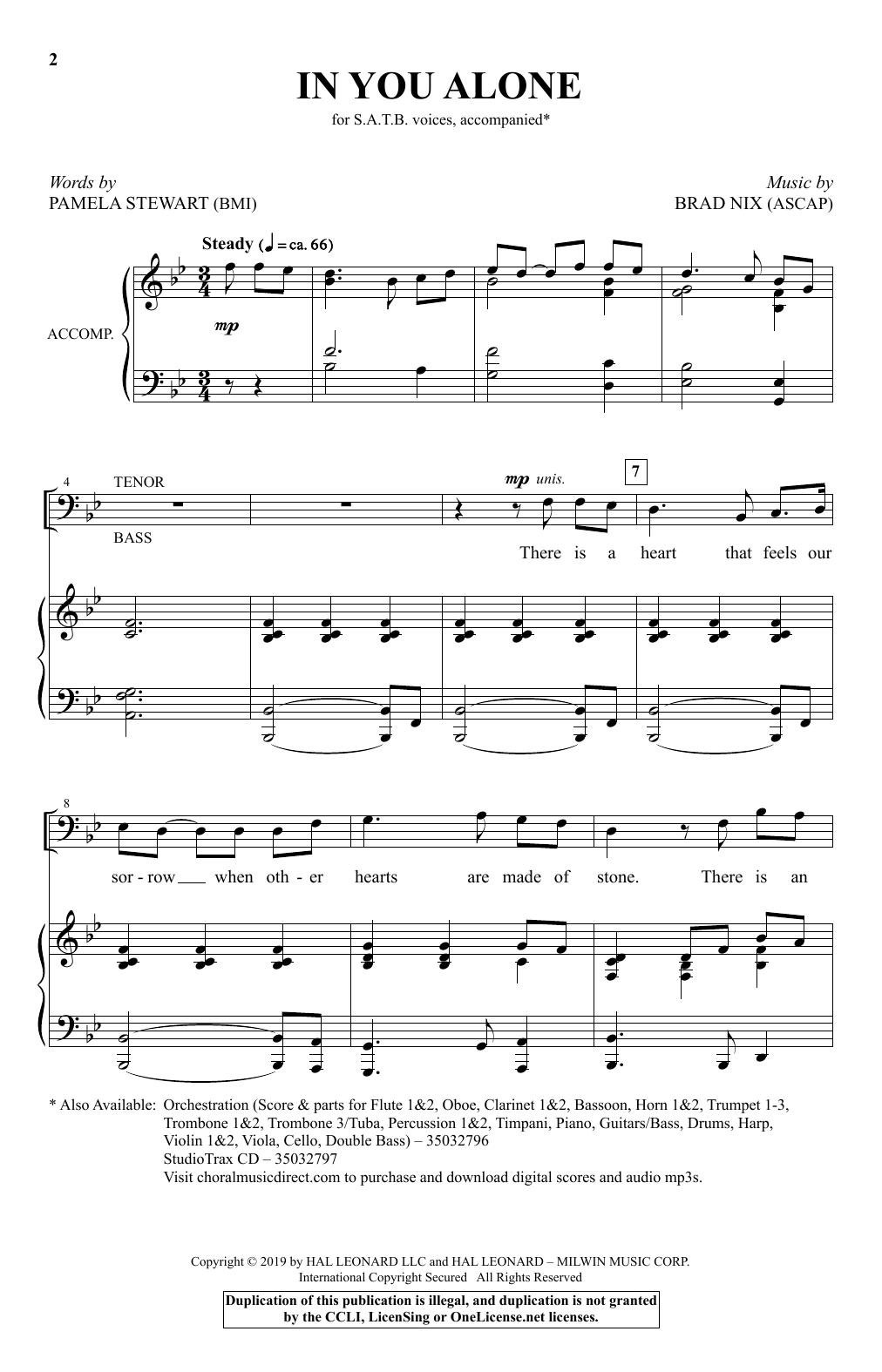 In You Alone (SATB Choir)