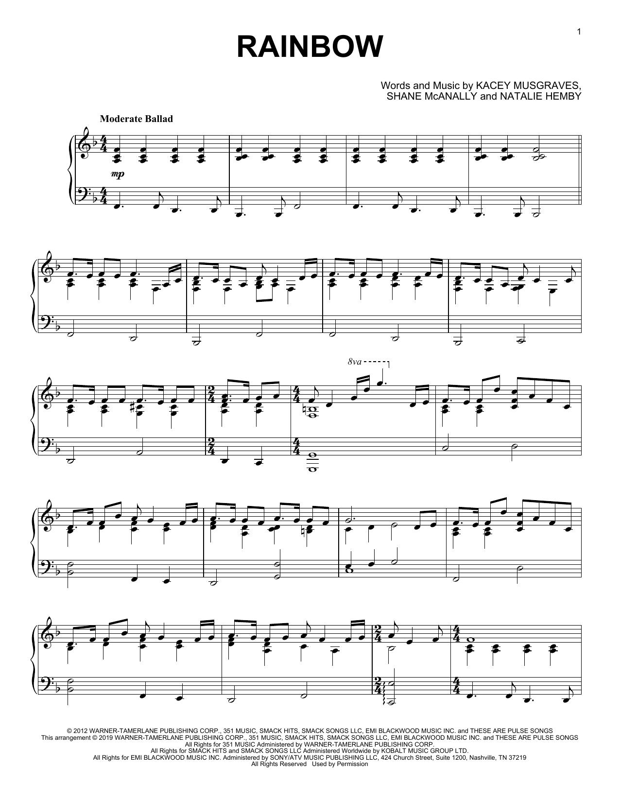 Rainbow (Piano Solo)
