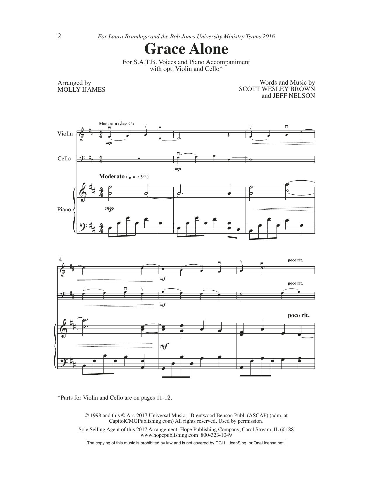 Grace Alone Sheet Music