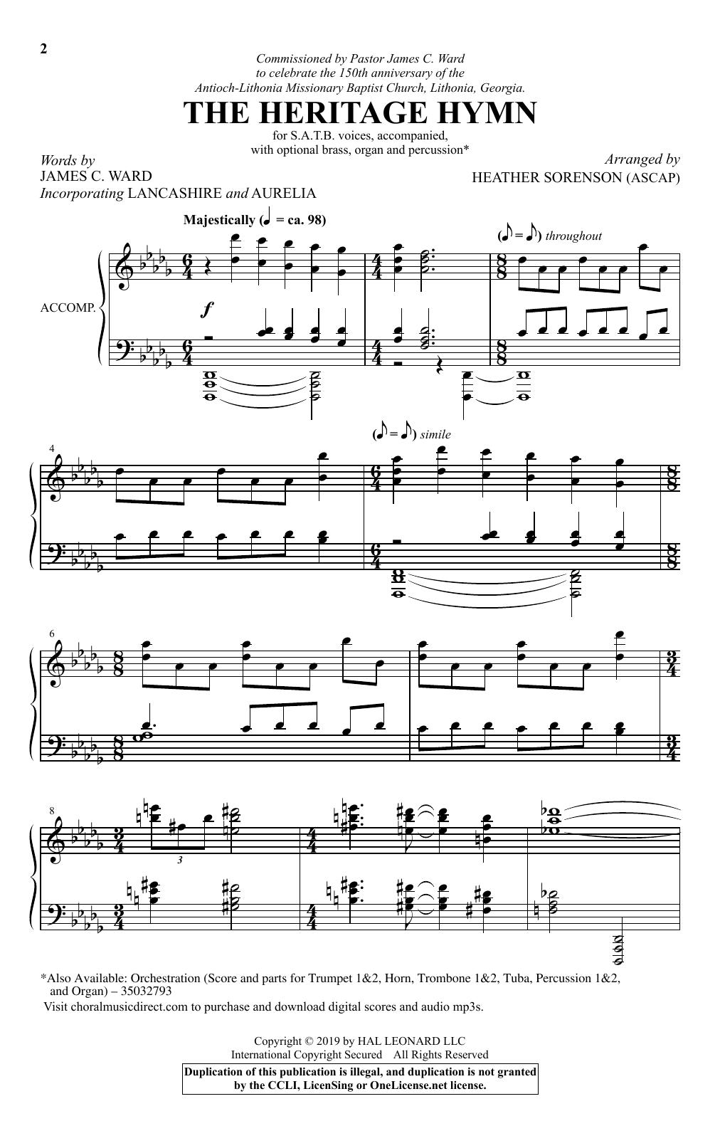 The Heritage Hymn (arr. Heather Sorenson) (SATB Choir)