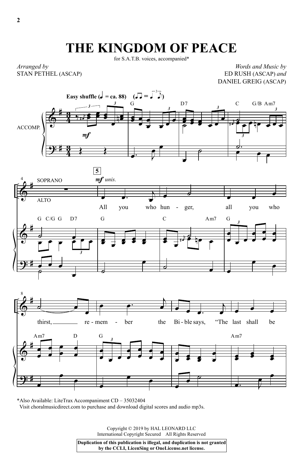 The Kingdom Of Peace (arr. Stan Pethel) (SATB Choir)