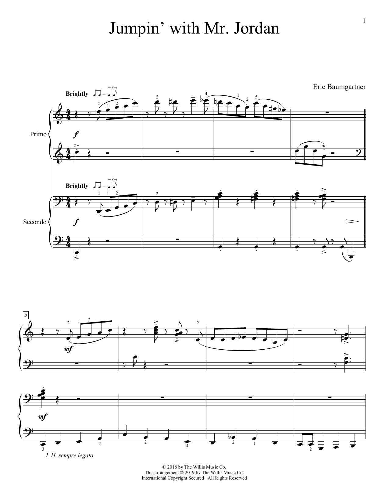Jumpin' With Mr. Jordan (Piano Duet)