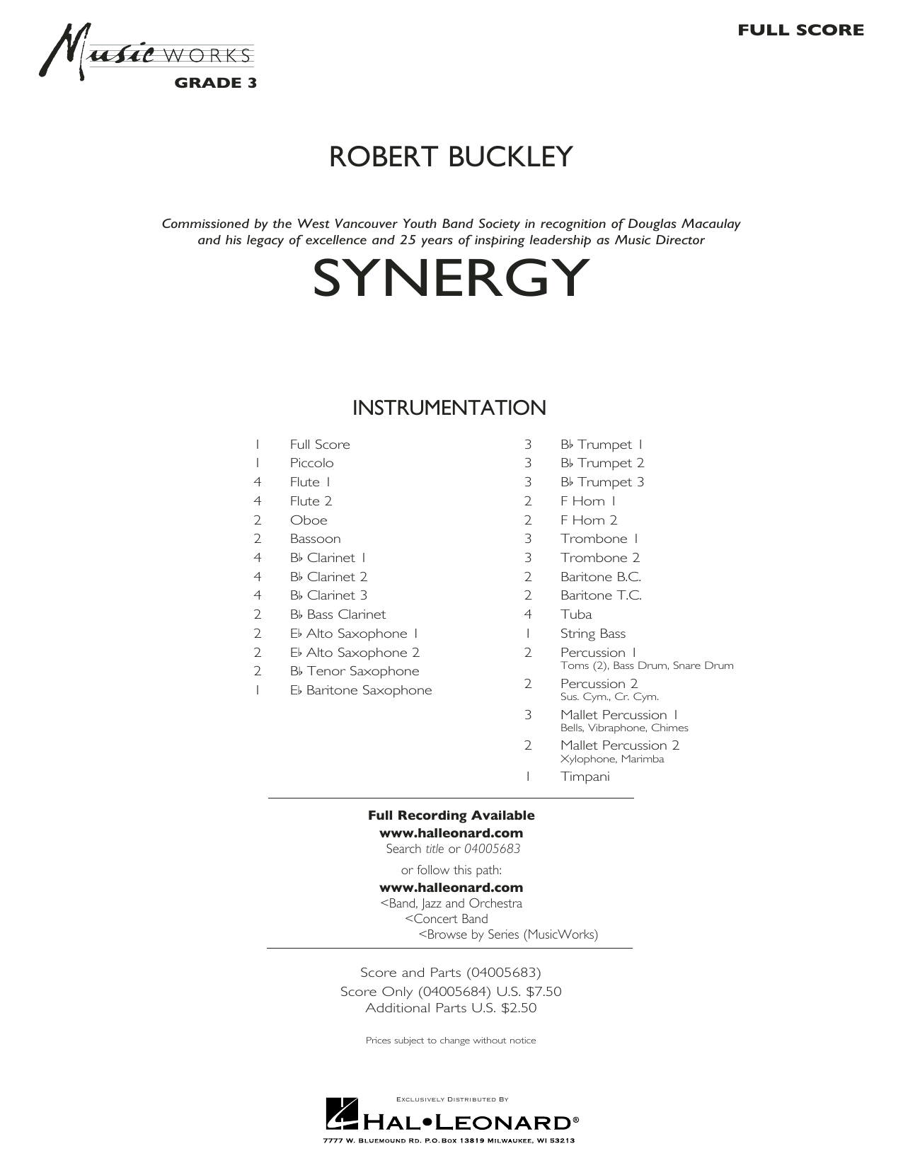 Synergy - Conductor Score (Full Score) (Concert Band)