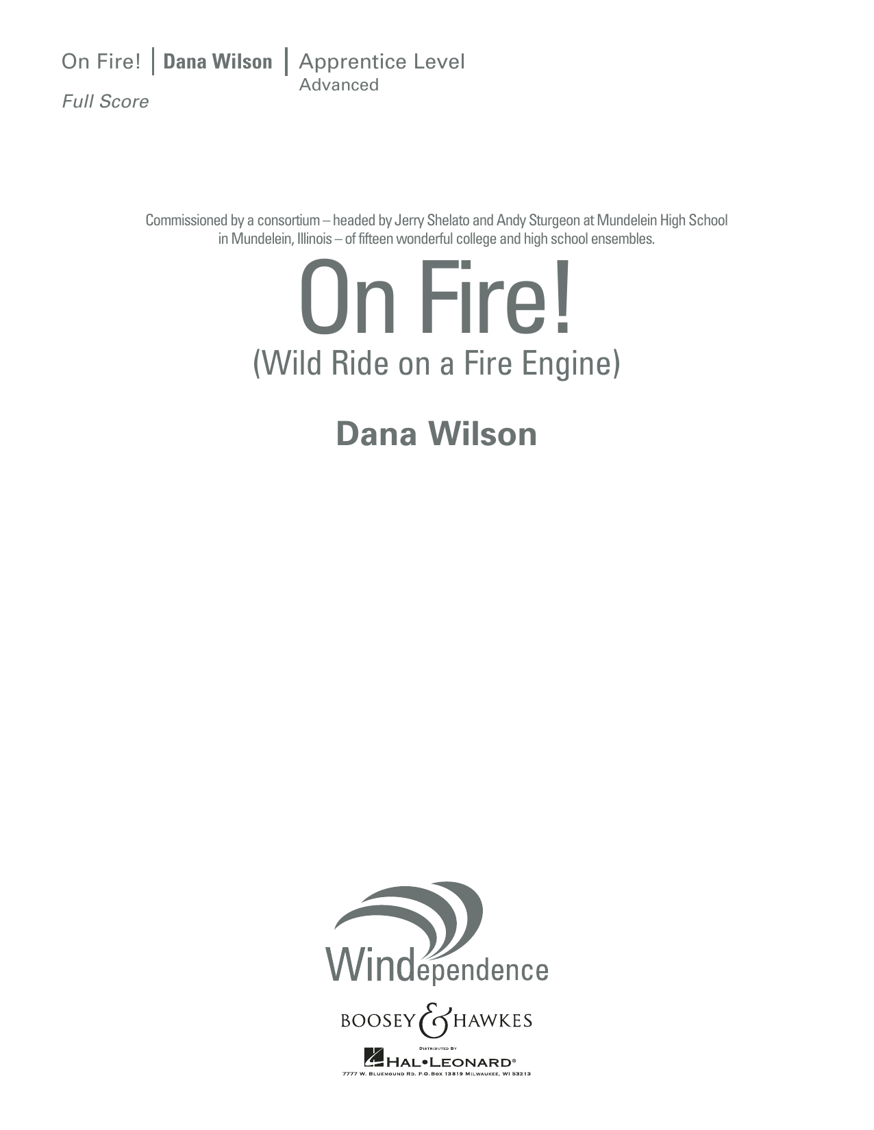 On Fire! (Wild Ride on a Fire Engine) - Conductor Score (Full Score) (Concert Band)