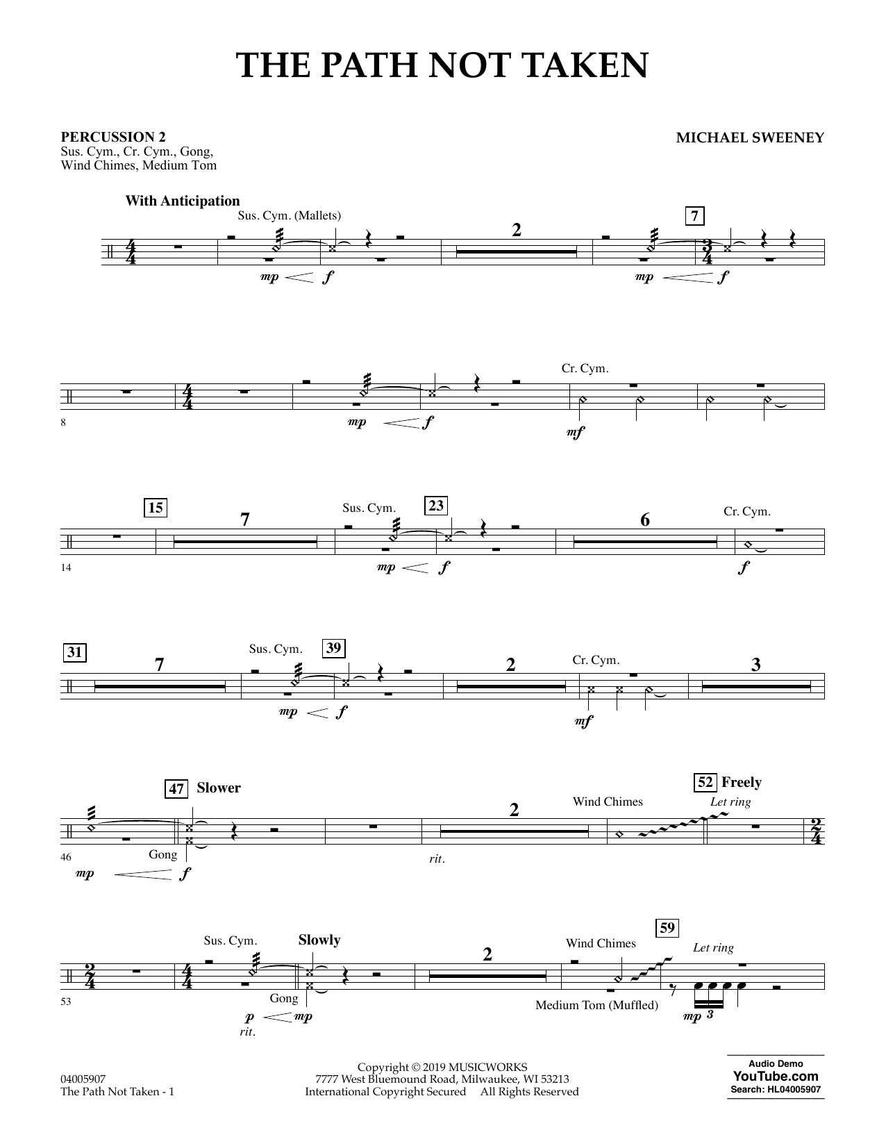 The Path Not Taken - Percussion 2 (Concert Band)