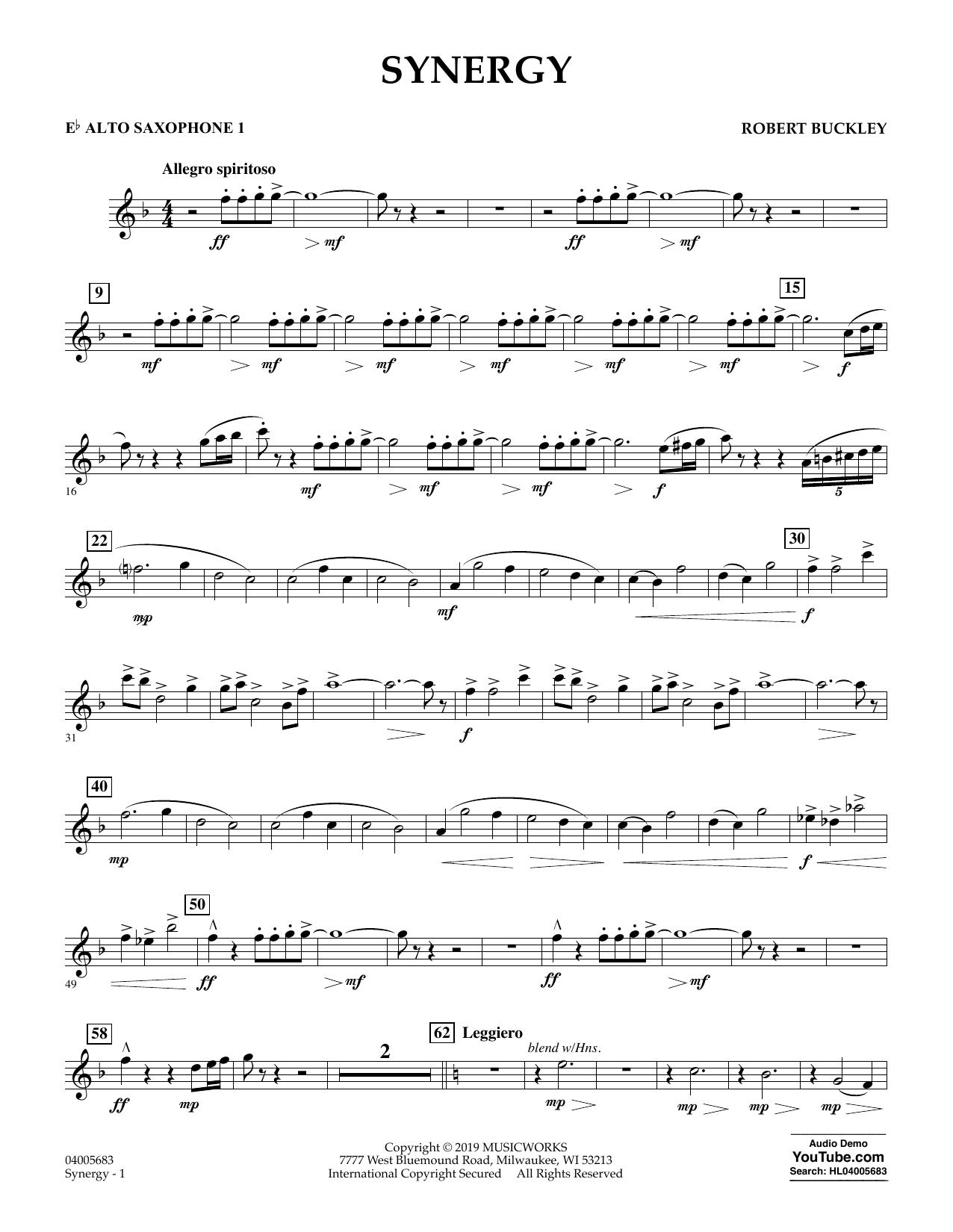 Synergy - Eb Alto Saxophone 1 (Concert Band)