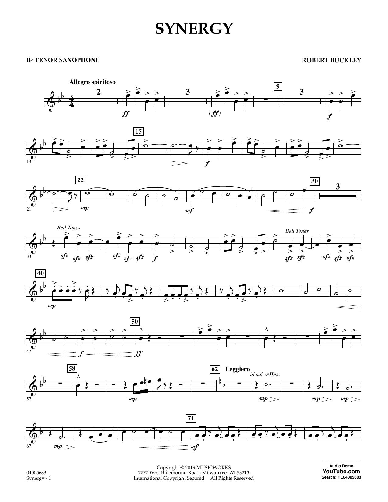 Synergy - Bb Tenor Saxophone (Concert Band)